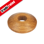 Unika Real Wood Pipe Collars Oak Pack of 2