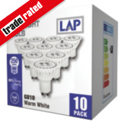 LAP GU10 LED Lamp 250Lm 750Cd 4W Pack of 10