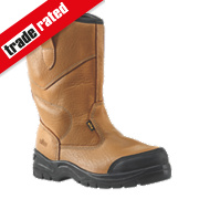 Site Gravel Rigger Safety Boots Tan Size 7