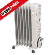 NDB-1C-15TS 7 Fin Oil-Filled Radiator & Timer 1500W