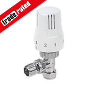 15mm Angled TRV White & Chrome