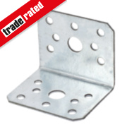 Sabrefix Heavy Duty Angle Brackets Galvanised 60 x 50mm 10 Pack