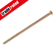 Multi-Fix Gold Flat Countersunk T30 Recess Concrete Screw 7.5 x 150mm Pk100