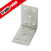 Heavy Duty Angle Brackets Galvanised 40 x 60mm 25 Pack