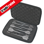 Erbauer Flat Wood Bit Set 8 Pieces