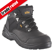Site Onyx Safety Boots Black Size 10