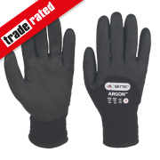 Skytec Argon Thermal Grip Gloves Black Large
