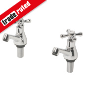 Swirl Bathroom Basin Taps Pair