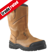 Site Gravel Rigger Safety Boots Tan Size 12