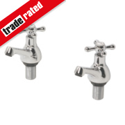 Swirl Bath Taps Pair