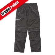 "Site Terrier Classic Work Trousers Black 36"" W 32"" L"