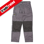 "Site Terrier Classic Work Trousers Grey 36"" W 32"" L"