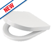 Moretti Duraplast Soft-Close Toilet Seat Urea Formaldehyde White