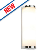 Saxby Ice Bathroom Wall Light Chrome G9 56W