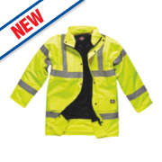 Dickies Hi-Vis Motorway Safety Jacket Saturn Yellow XXXX Large 62