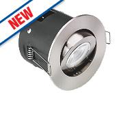 Aurora Fire Rated Adjustable LED Downlight IP20 Satin Nickel 4.9W