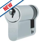 Eurospec 5-Pin Keyed Alike Single Euro Cylinder Lock 40mm Polished Chrome