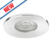 Sylvania Fire Rated Fixed Integrated LED Downlight IP65 Chrome 10W