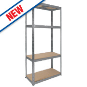 RB Boss Galvanised Boltless Freestanding Shelving 4-Tier