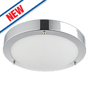 Saxby Portico LED Bathroom Ceiling Light Chrome 9W