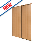 Spacepro 2 Door Panel Sliding Wardrobe Doors Beech 1195 x 2260mm