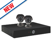 Yale Y402A-HD 4-Channel HD CCTV Kit & 2 Cameras