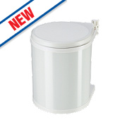 Hailo Compact Inner Kitchen Waste Bin White 15Ltr