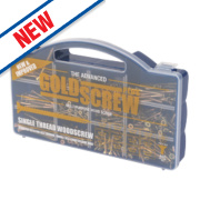 Goldscrew Plus Woodscrews Handy Pack Double Self-Countersunk Pack of 500