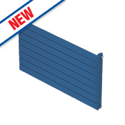 Moretti Modena Single Panel Horizontal Designer Radiator Blue 578x800mm