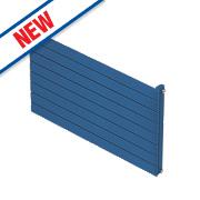 Moretti Modena Single Panel Horizontal Designer Radiator Blue 578x800mm
