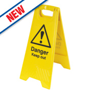Danger Keep Out A-Frame Safety Sign 600 x 290mm