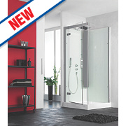 Saniflo Kinedo Horizon Pivot Door All-In-One Shower Enclosure 800 x 800mm