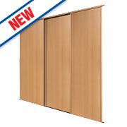 Spacepro 3 Door Panel Sliding Wardrobe Doors Beech 1780 x 2260mm