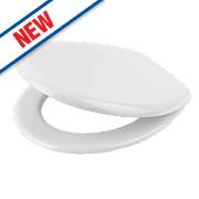 Swirl Thermoplastic Toilet Seat Polypropylene White