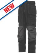 Snickers Rip-Stop Pro-Kevlar Floorlayer Trousers Grey / Black 35