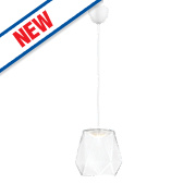 Philips Italo LED Glass Pendant Ceiling Light Clear 5.5W