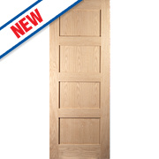 Jeld-Wen Shaker 4-Panel Interior Fire Door Oak Veneer 2040 x 826mm
