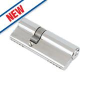 Eurospec 5-Pin Keyed Alike Euro Cylinder Lock 30-50 (80mm) Polished Chrome