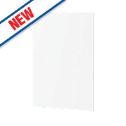 Matt White Profiled Kitchen End Support Panel 600 x 18 x 900mm
