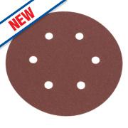 Flexovit Sanding Discs Punched 150mm 120 Grit Pack of 6