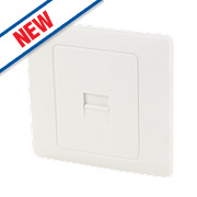 Schneider Electric 1-Gang Secondary Telephone Outlet White