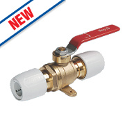 Hep2O Push-Fit Plated Brass Ball Valve 15mm