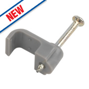 LAP Cable Clips Grey for Twin & Earth Cable 1-1.5mm Pack of 100