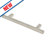 Square T Bar Handle Satin Nickel 128mm