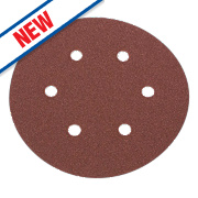 Flexovit Sanding Discs Punched 150mm 80 Grit Pack of 6