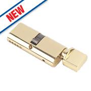 Eurospec 5-Pin Master Keyed Oval Cylinder Thumbturn Lock 30-30 (60mm) Polished Brass