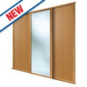 Spacepro 2 Door Sliding Wardrobe Doors Oak / Mirror 2236 x 2260mm