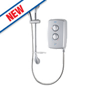 Triton T70gsi Manual Electric Shower Satin Silver 8.5kW