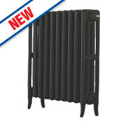 Arroll Neo-Classic 4-Column Cast Iron Radiator Black Primer 660 x 634mm