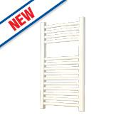 Flomasta Curved Ladder Towel Radiator White 700 x 400mm 264W 901Btu